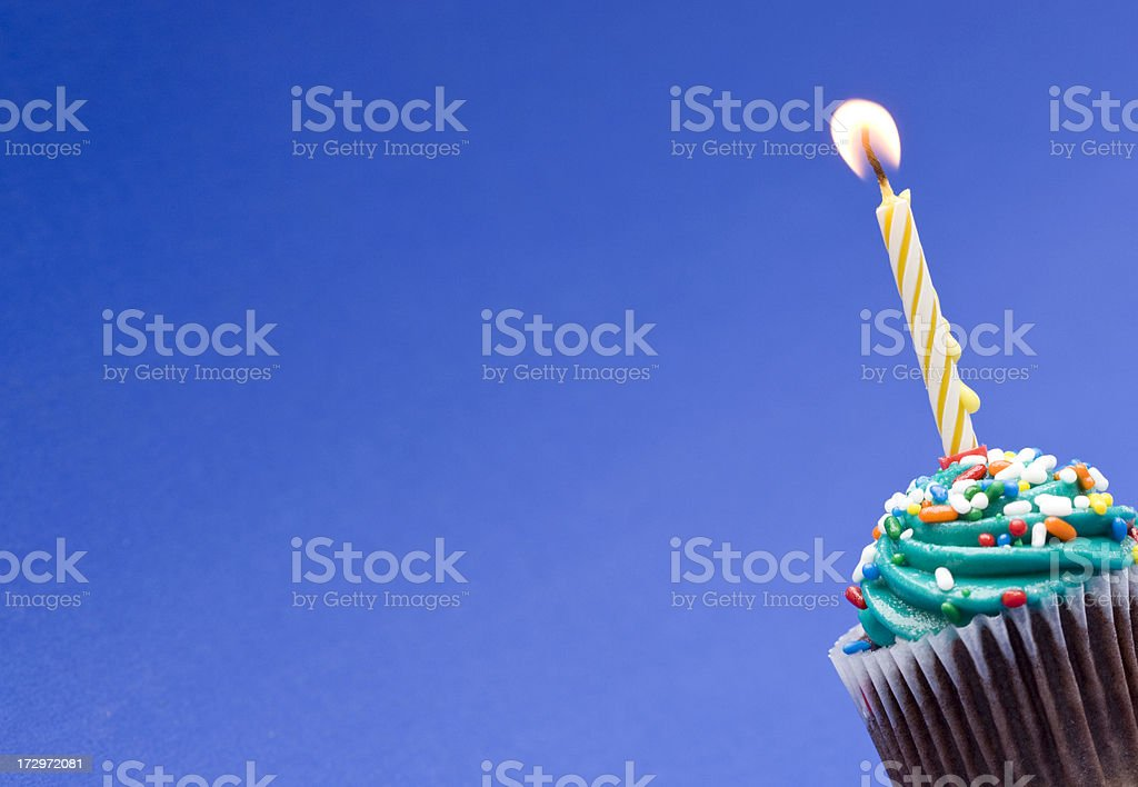 Lonely cupcake royalty-free stock photo