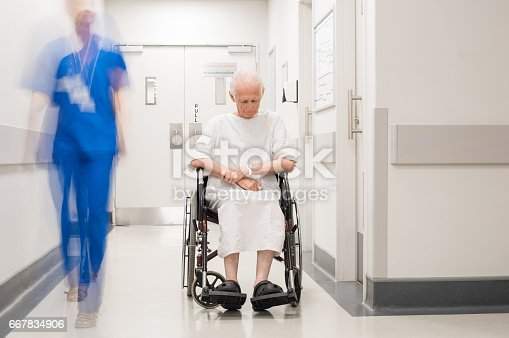 istock Lonely disabled at hospital 667834906