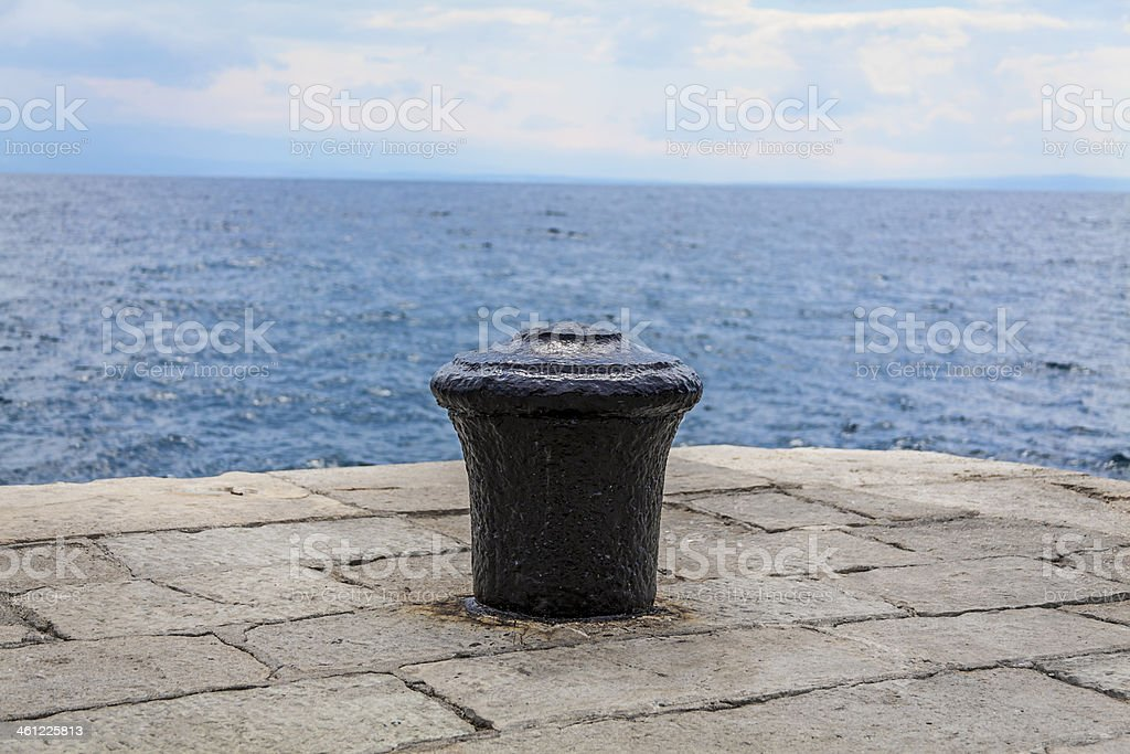 Lonely dock royalty-free stock photo