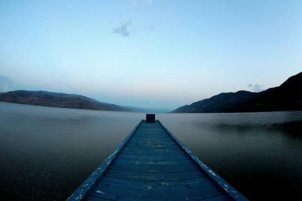 Lonely Dock stock photo