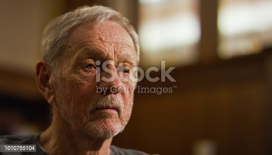 istock A Lonely Elderly Caucasian Man with Wrinkles 1010755104