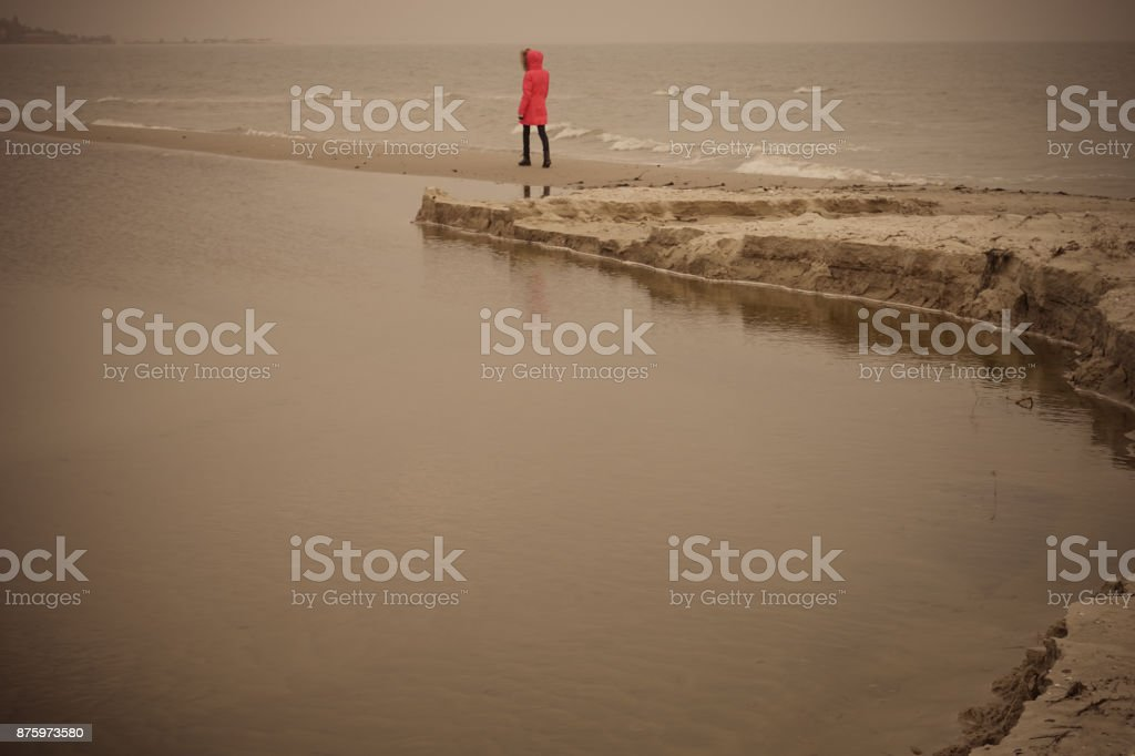 A lonely girl stock photo