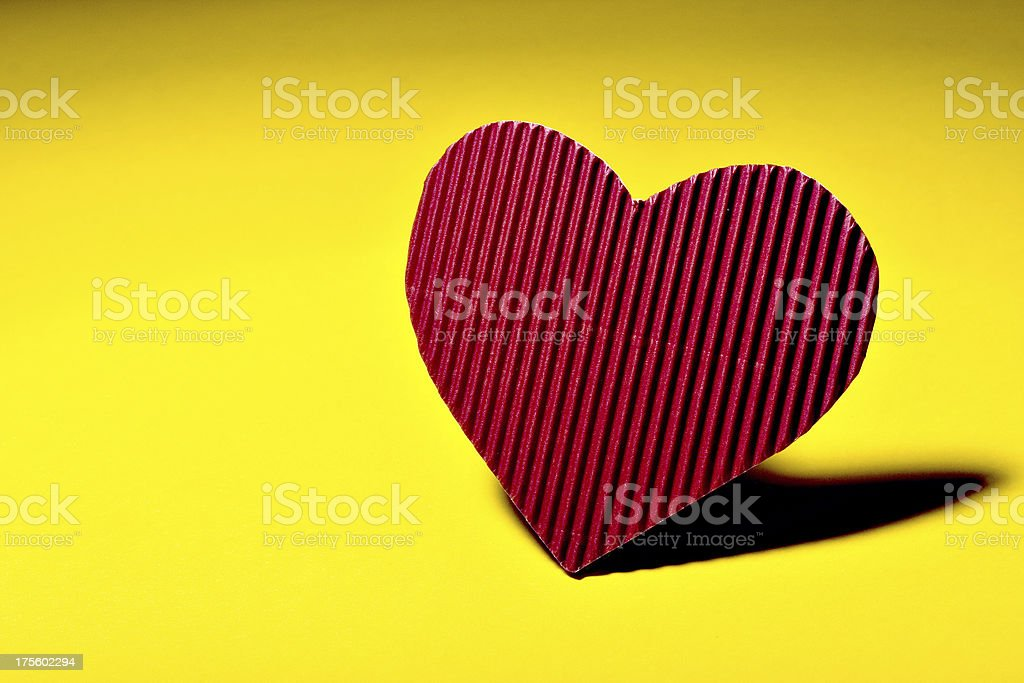Lonely heart royalty-free stock photo
