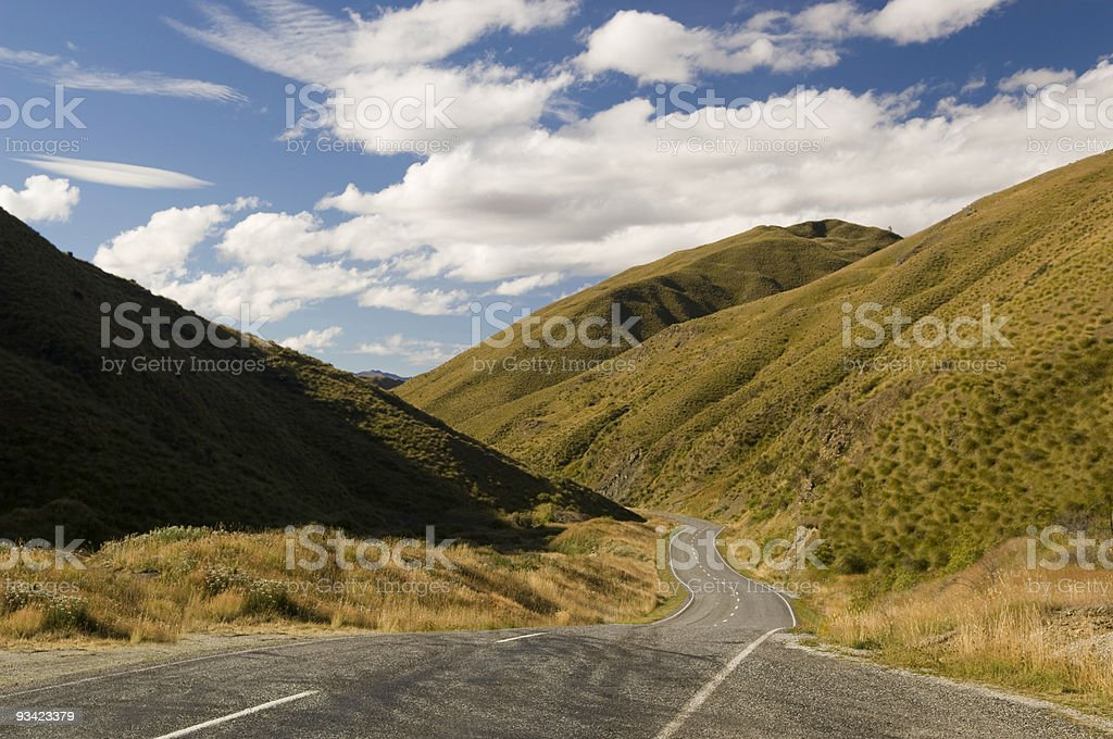 Lonely Highway Valley royalty-free stock photo