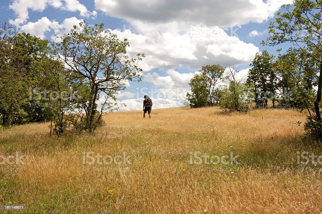 Lonely hiker royalty-free stock photo