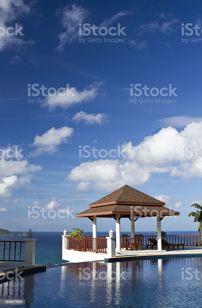 Lonely hut in a luxurious resort royalty-free stock photo