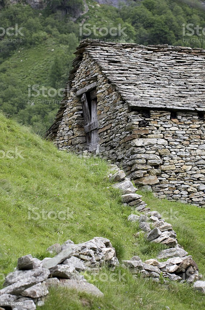 Lonely Hut royalty-free stock photo