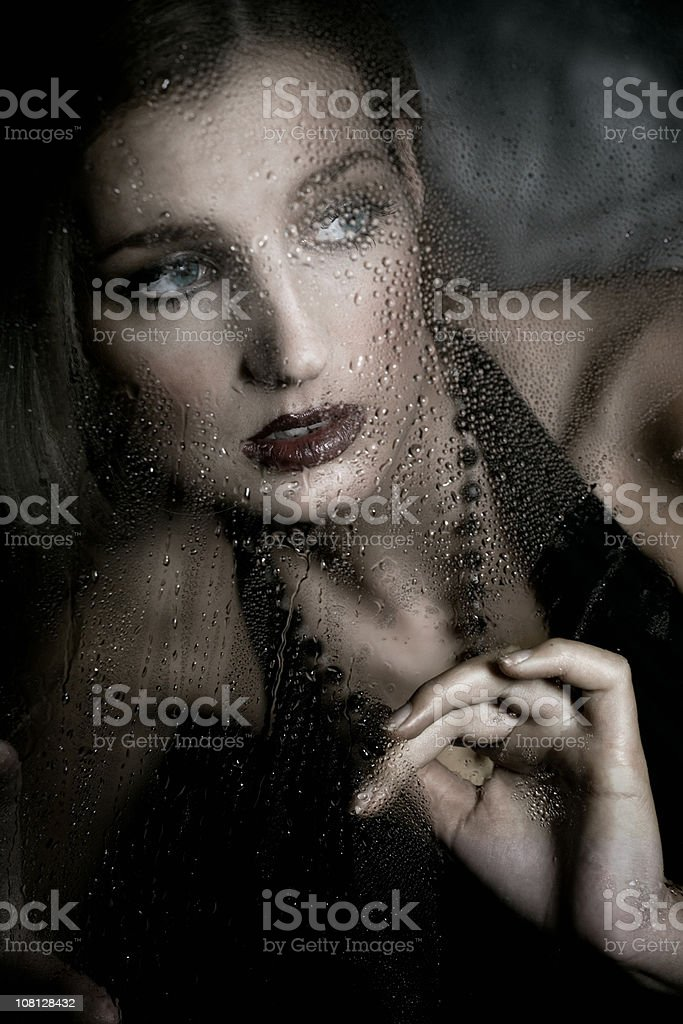 Lonely In Car royalty-free stock photo