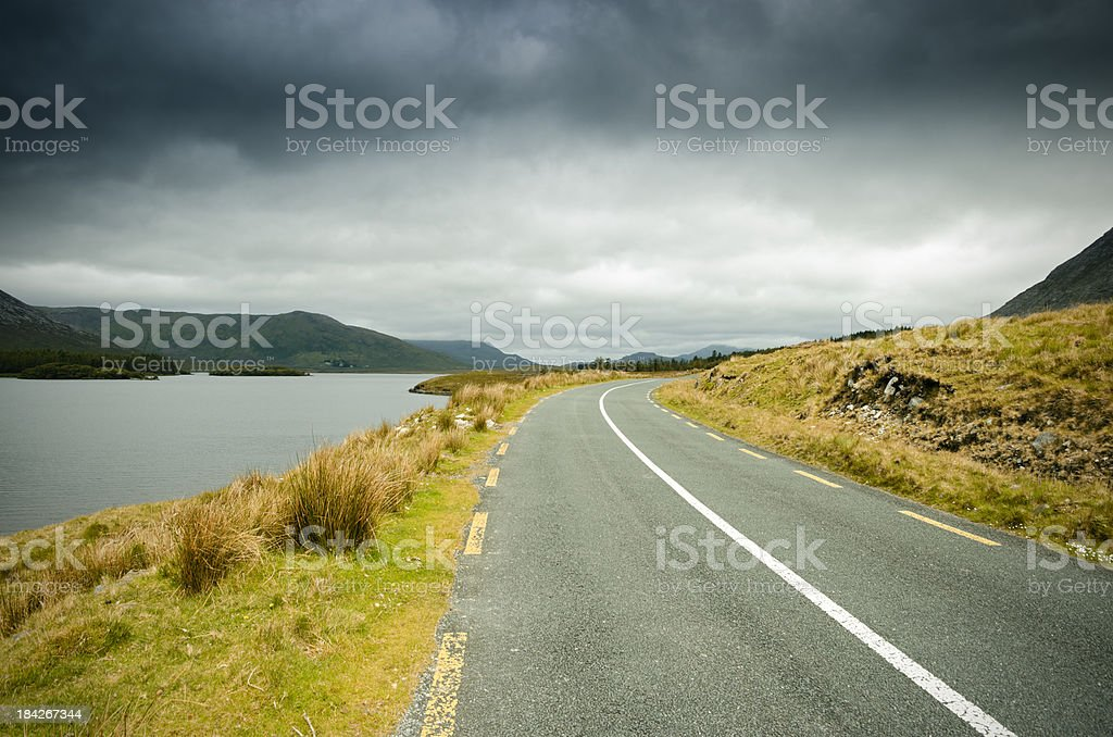 Lonely Irish country road royalty-free stock photo