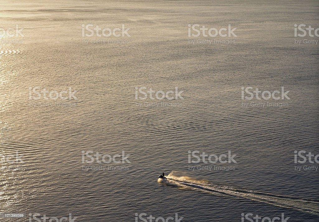 Lonely jet ski stock photo