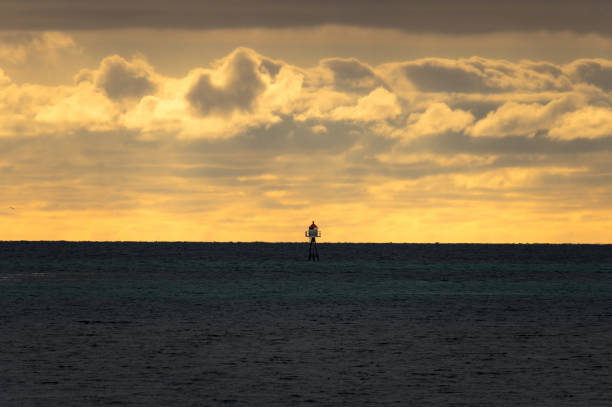Lonely Lighthouse stock photo