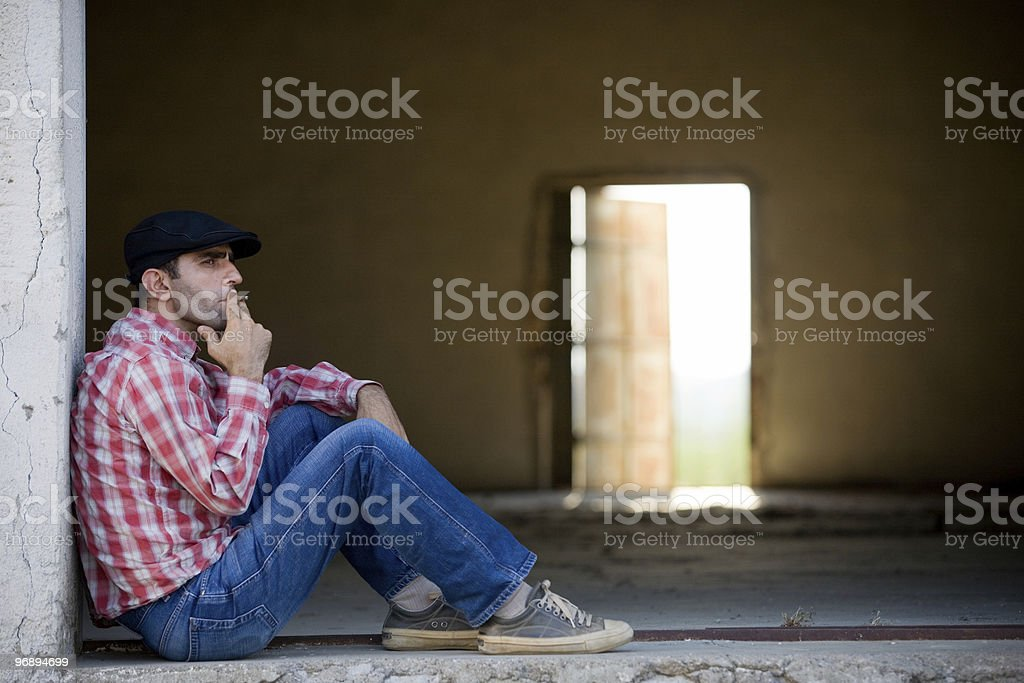 Lonely man royalty-free stock photo