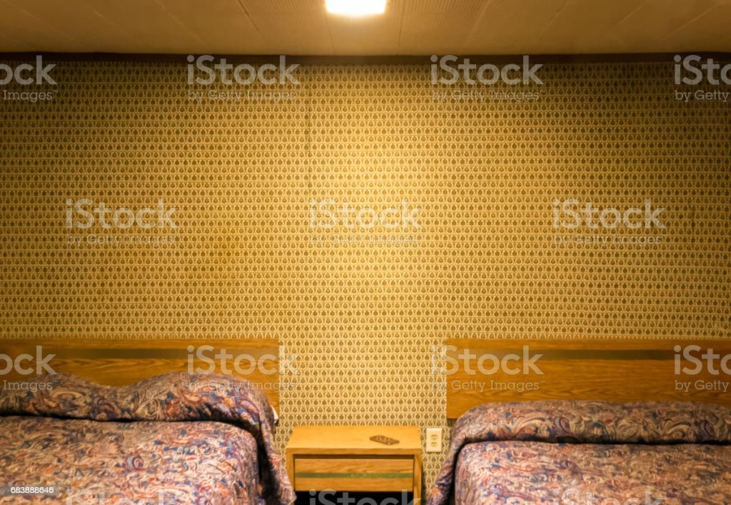 Lonely motel room stock photo