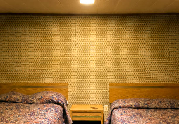 lonely motel room - hotelzimmer stock-fotos und bilder