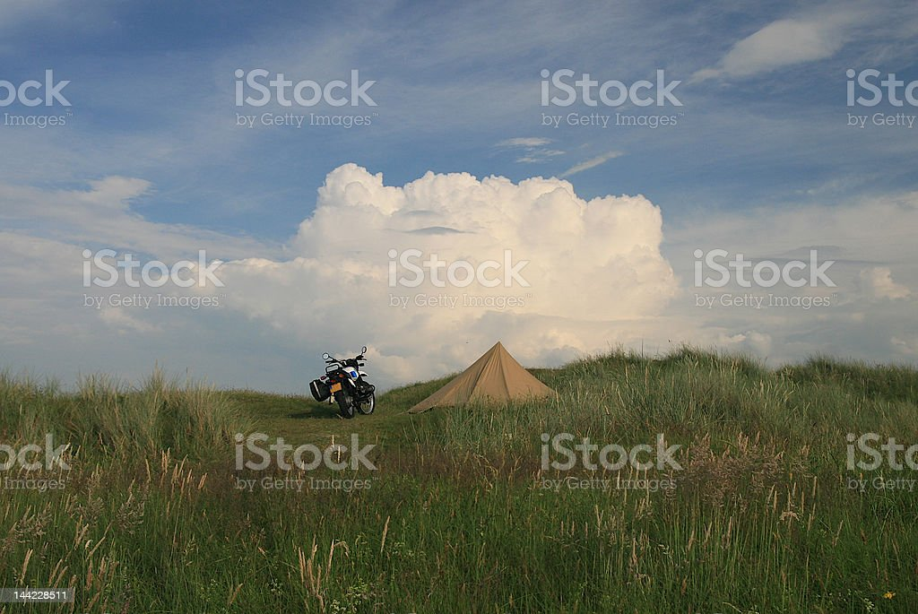 Lonely motordriver on holiday royalty-free stock photo