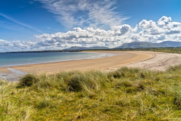 Lonely Mullaghmore Beach in County Sligo, Ireland stock photo