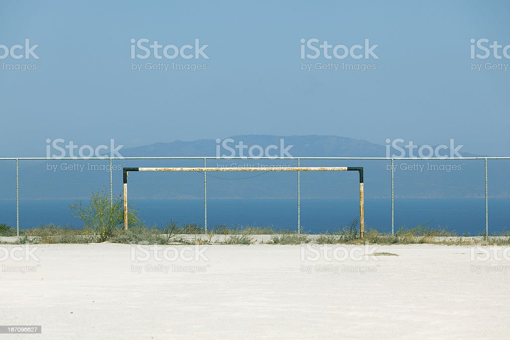 lonely obsolete goal royalty-free stock photo