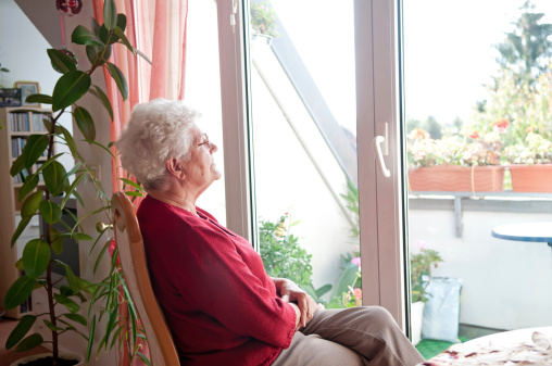 Lonely Old Woman Stock Photo - Download Image Now