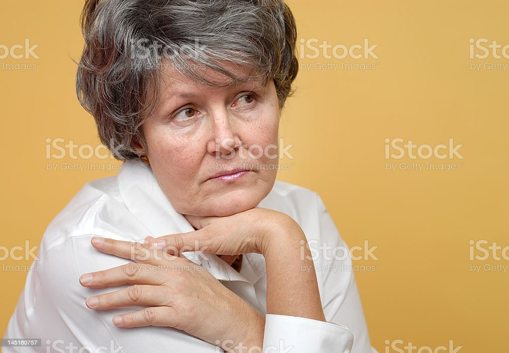 Lonely older woman royalty-free stock photo
