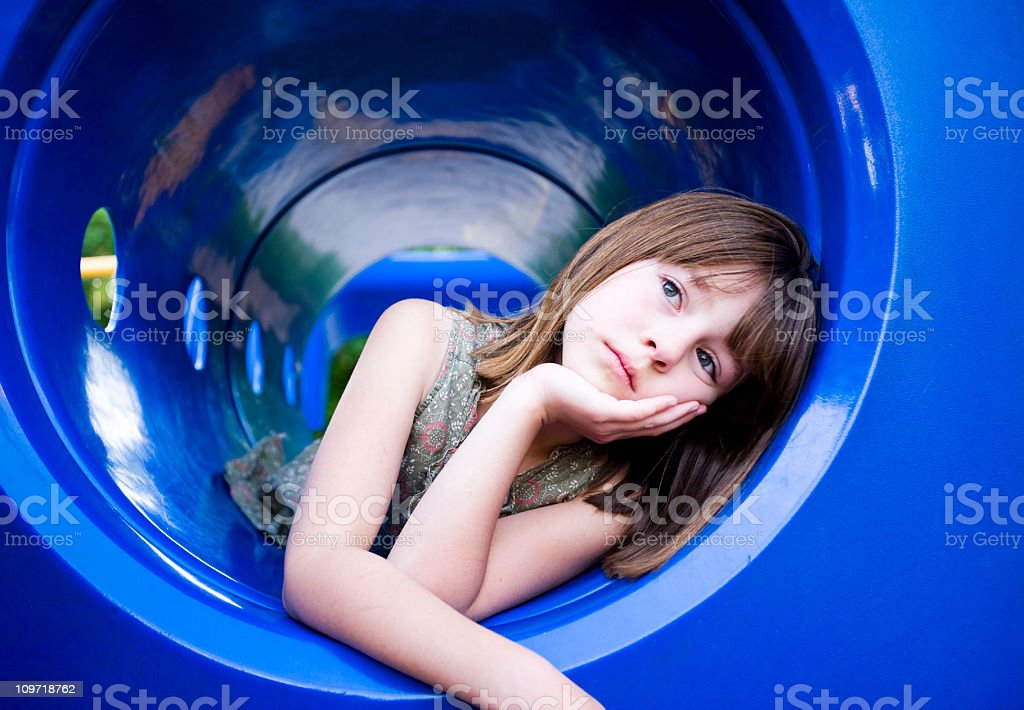 Lonely on the Playground royalty-free stock photo
