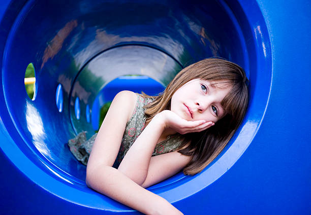Lonely on the Playground stock photo