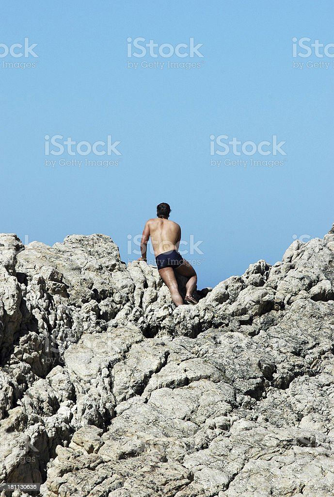 Lonely on watch stock photo