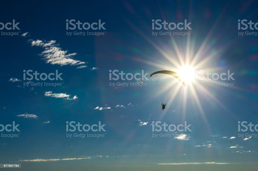 lonely paragliding royalty-free stock photo