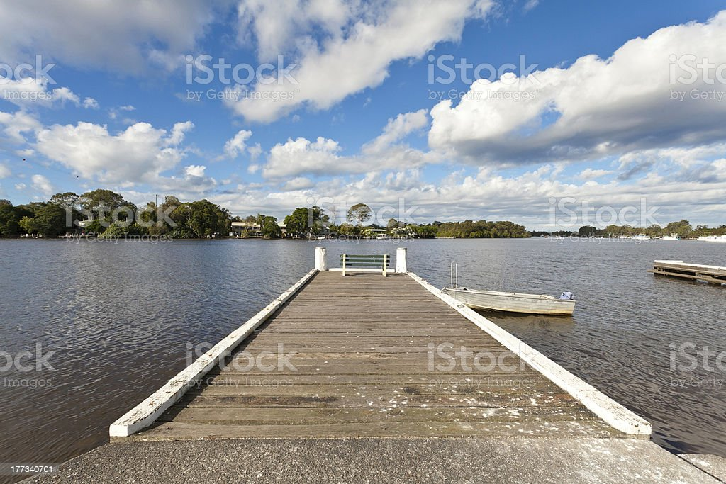 Lonely Pier royalty-free stock photo