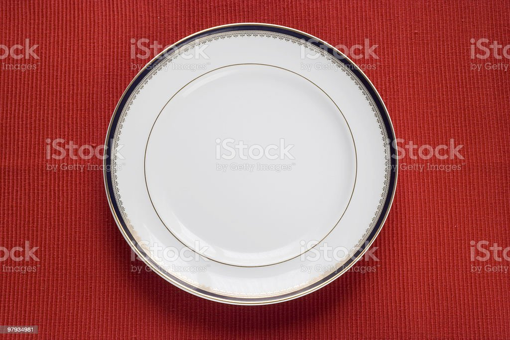 lonely plate royalty-free stock photo
