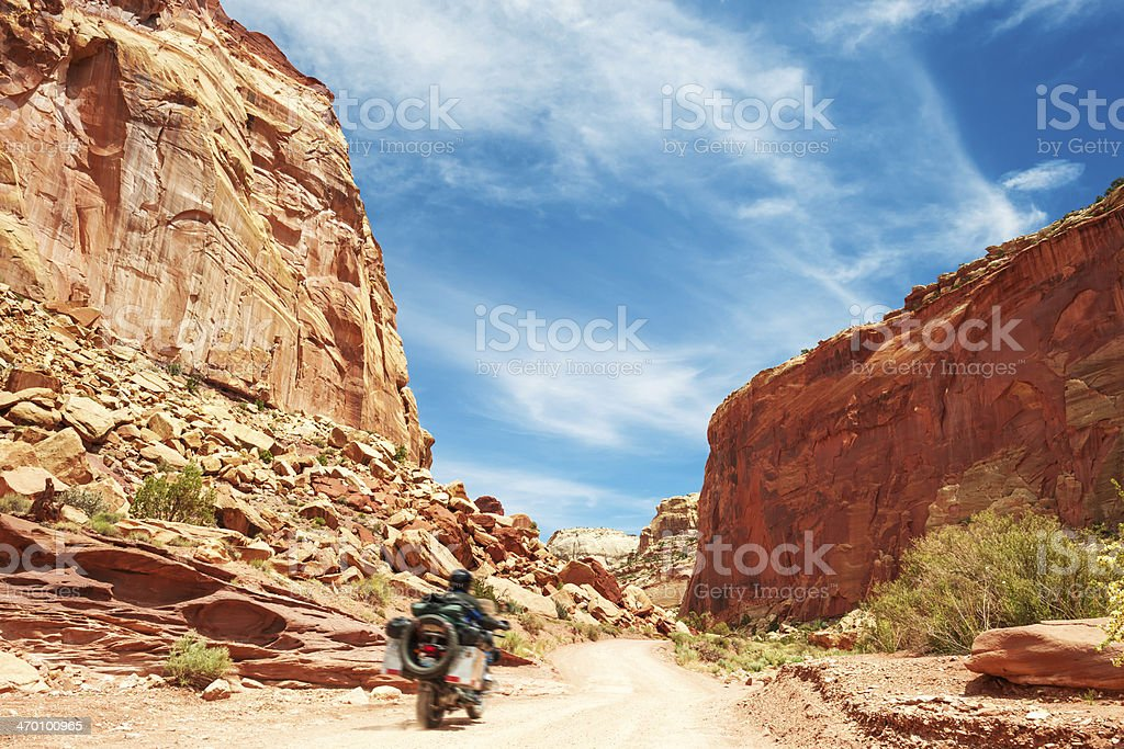 Lonely Rider royalty-free stock photo