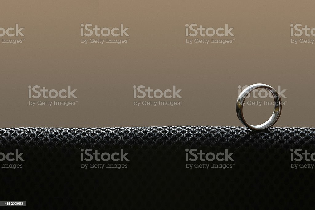 lonely ring stock photo