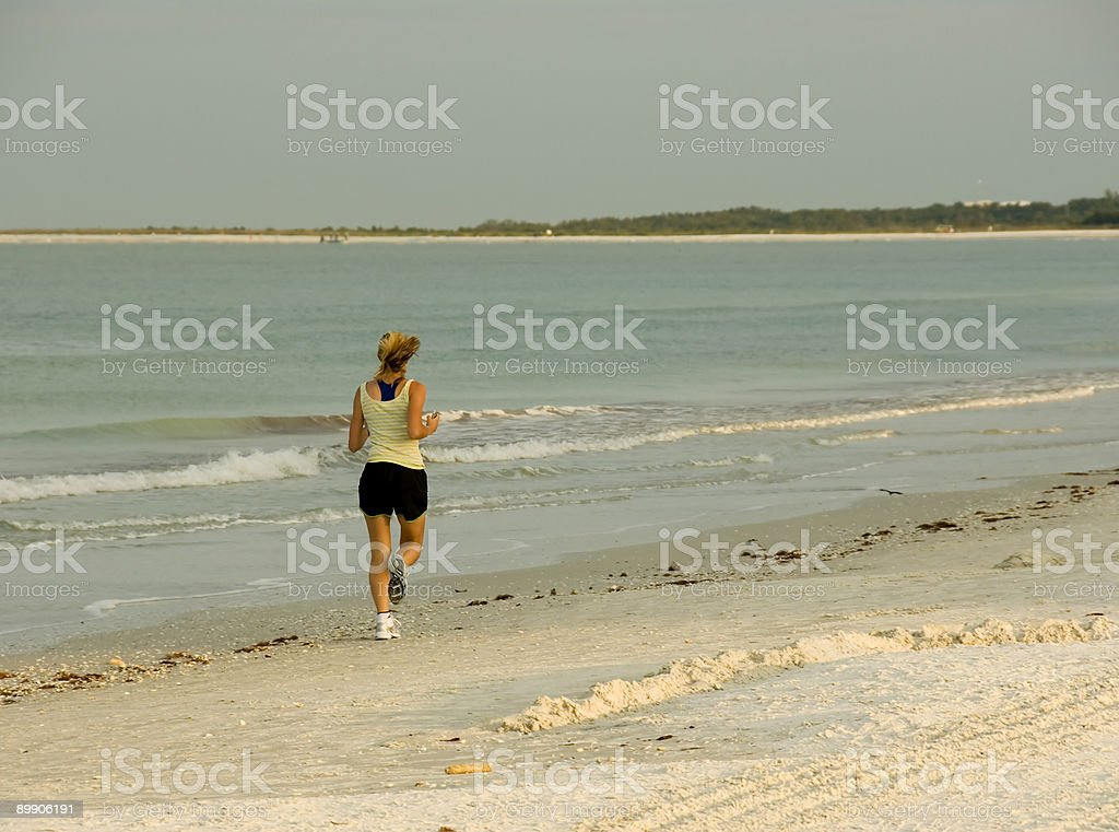 Lonely Runner 1 royalty-free stock photo