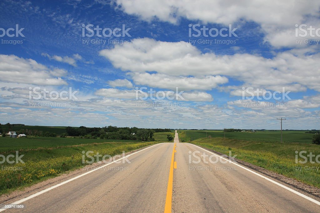 Lonely Rural Highway stock photo