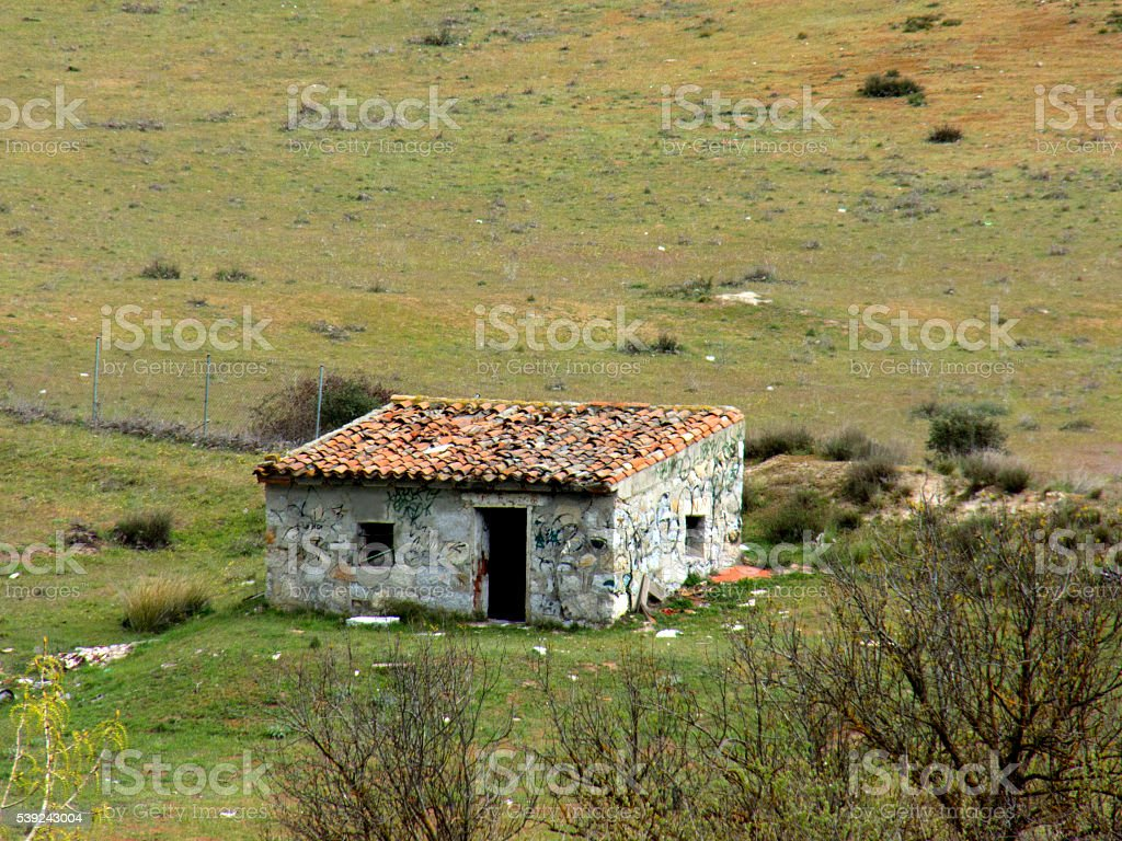 lonely rural house royalty-free stock photo
