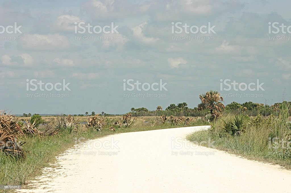 lonely rural road royalty-free stock photo