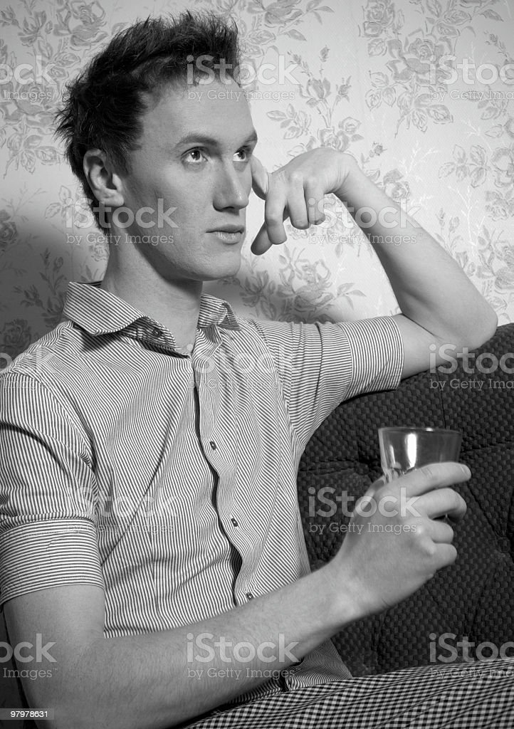 lonely sad cute young guy royalty-free stock photo