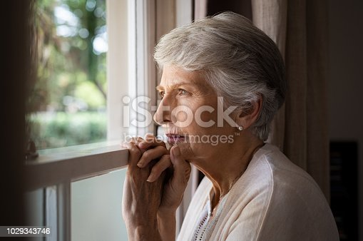 istock Lonely senior woman 1029343746