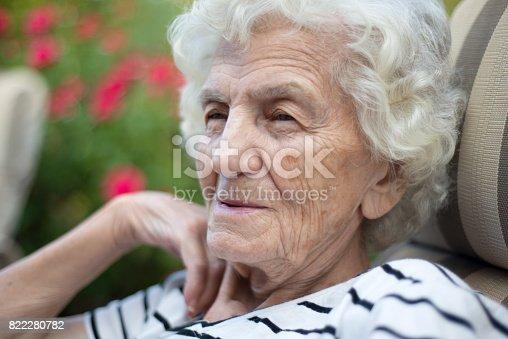 874789168istockphoto Lonely Senior Women with Gentle Smile 822280782