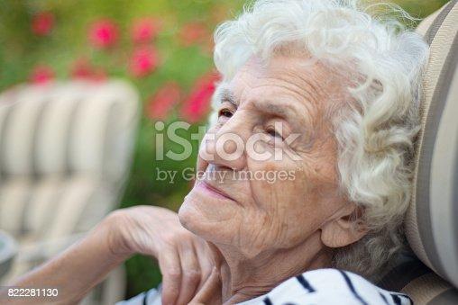874789168istockphoto Lonely Senior Women with Gentle Smile 822281130