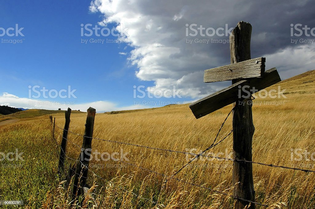 lonely signpost royalty-free stock photo