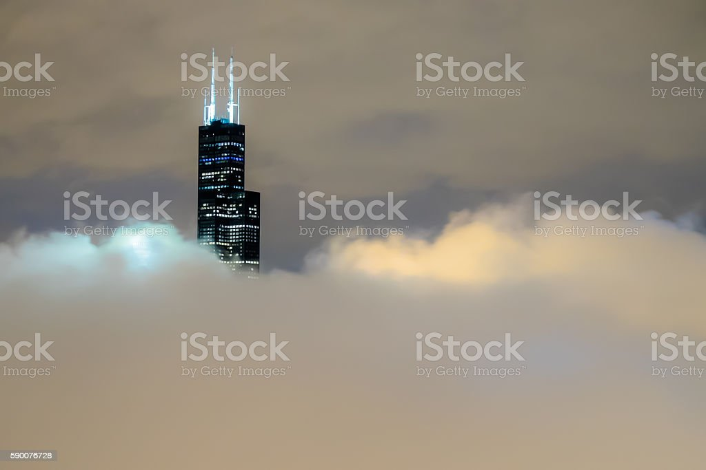 Lonely Skyscraper stock photo