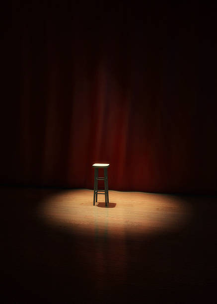 Lonely Stage Stool stock photo