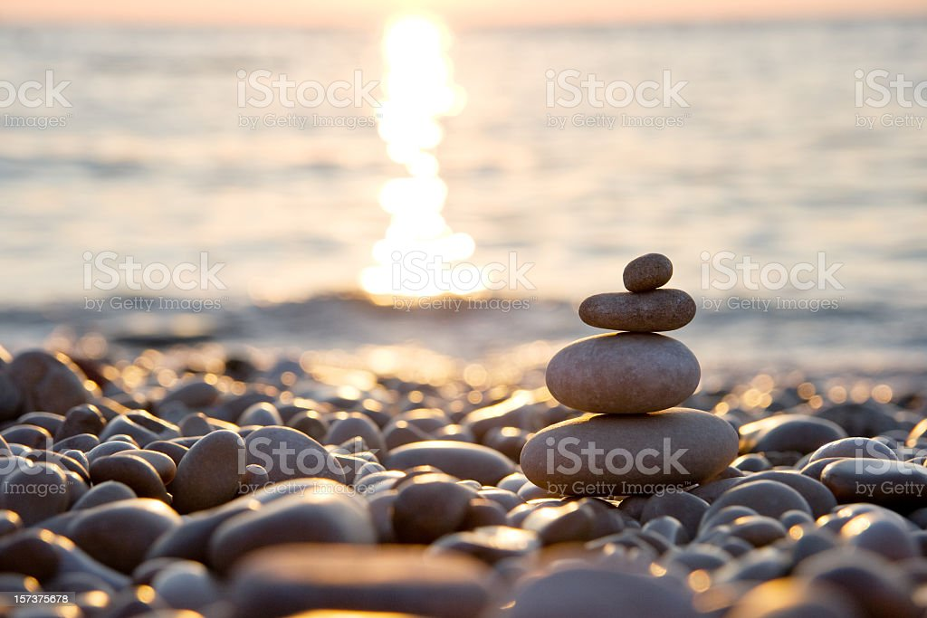 Lonely stones stock photo