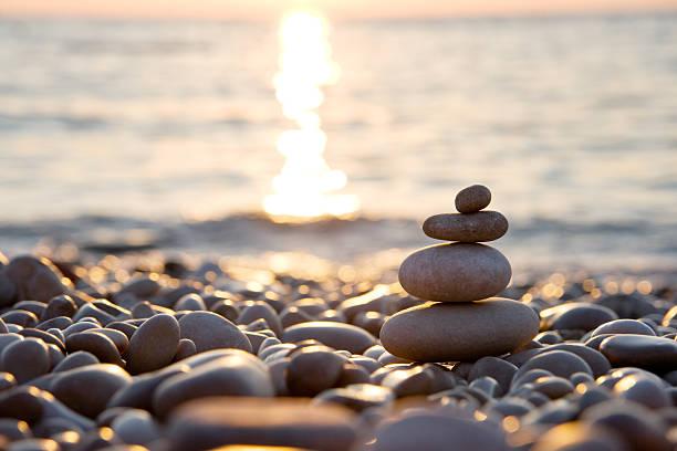 Lonely stones stock photo