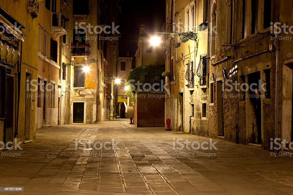 Lonely street on Venice stock photo