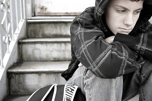 Lonely Teen stock photo