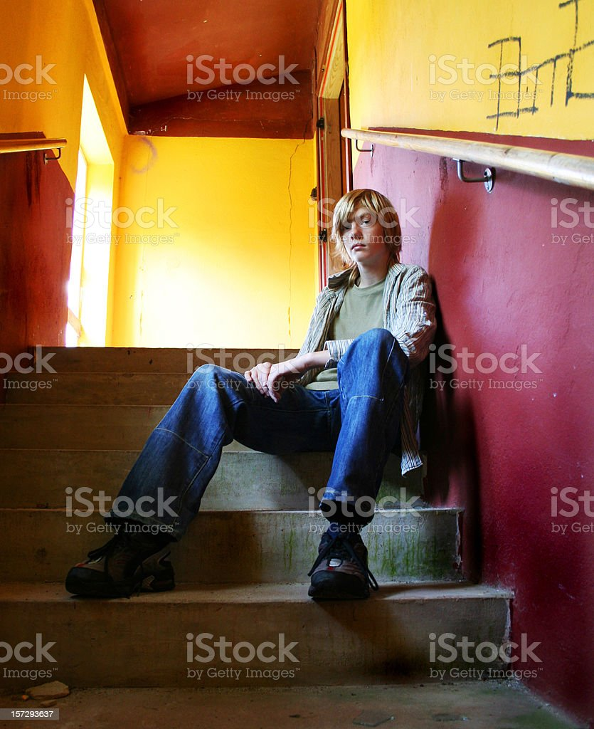 Lonely teenager royalty-free stock photo