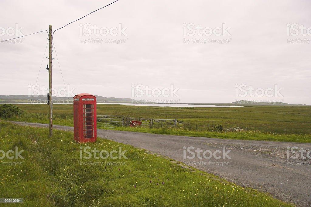lonely telephone box royalty-free stock photo