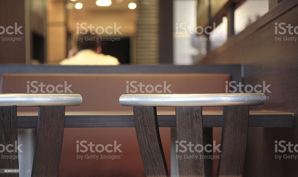 Lonely Thinker in a Restaurant royalty-free stock photo