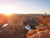 Horseshoe Bend Arizona is becoming an iconic image that represents the Grand Canyon in many visitors minds. View of horseshoe bend.